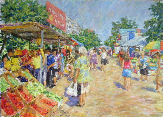 Urii Parchaikin. Street market