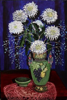 Vladimir Adamovich Ropot. Chrysanthemums