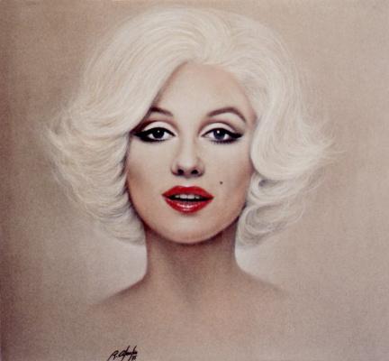 Рикардо Асенсио. Портрет блондинки с красными губами
