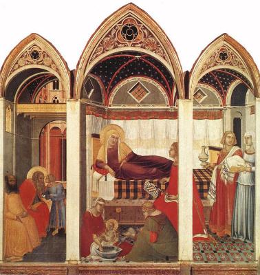 Pietro Lorenzetti. The Birth Of Mary