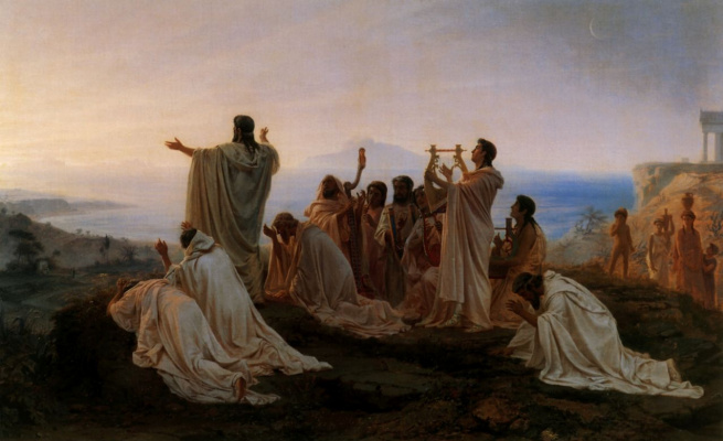 Fedor Andreevich Bronnikov. A hymn to the Pythagoreans the rising sun