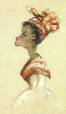 Claude Monet. A black woman in a headscarf