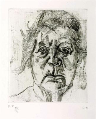 Lucien Freud. Artist's mother
