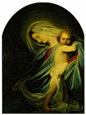 Федор (Фиделио) Антонович Бруни. Богоматерь с Младенцем, отдыхающая на пути в Египет