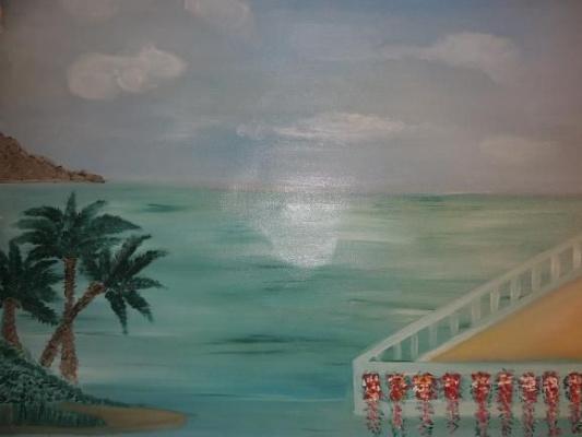Asya Alibala gizi Hajizadeh. The sea!
