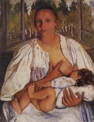 Zinaida Yevgenyevna Serebriakova. The nurse with the child