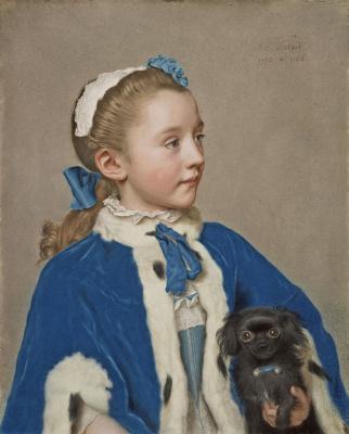 Jean-Etienne Lyotard. Maria Frederica van reede-Athlone at seven years of age