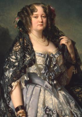 Franz Xaver Winterhalter. Portrait of Princess Sophia Alexandrovna Radziwill. Fragment