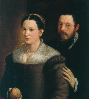 Sofonisba Angisola. Portrait of a couple