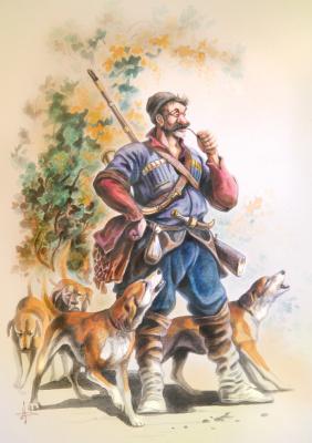 Александр Александрович Дегтев. Пора. На Кавказе. Акрил