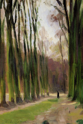 Evgeniy Evgenievich Lansere. Alley in Versailles