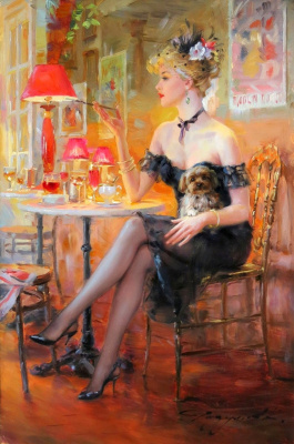 Constantine Razumov. In a cafe.