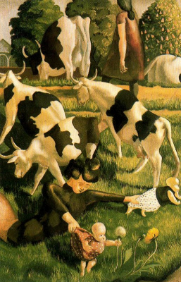 Stanley Spencer. Cows