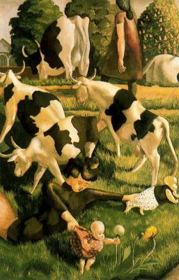 John Roddem Spencer-Stanhope. Cows