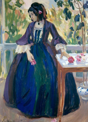 Victor Elpidiforovich Borisov-Musatov. Autumn motive (Lady in purple)