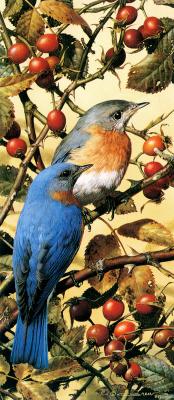 Карл Брендерс. Синие птицы