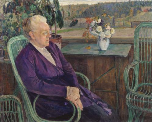 Mikhail Vasilyevich Nesterov. Portrait Of The S. I. Tyutchev