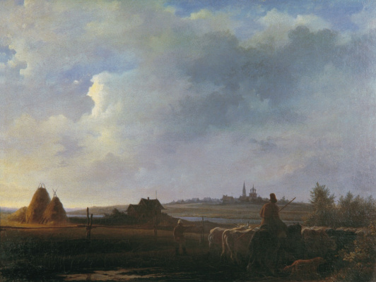 Карл-Фридрих Петрович Бодри Россия 1812 - 1894. Rustic view.