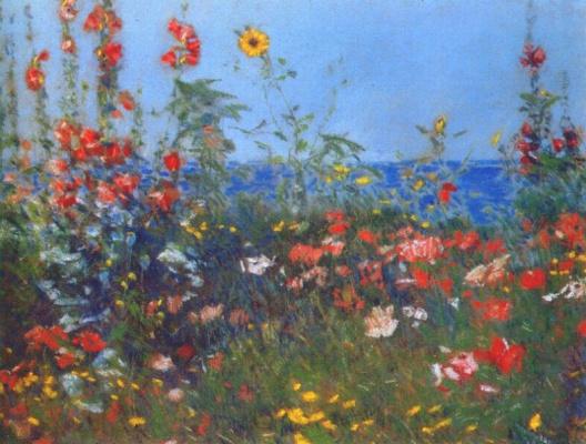 Childe Hassam. Poppies, Isle of shoals