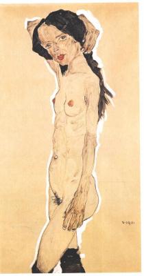 Egon Schiele. Standing Nude