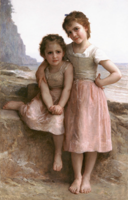 William-Adolphe Bouguereau. Two sisters on the shore