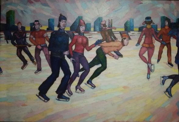 Edward Alexandrovich Bykhovets. Evening on ice