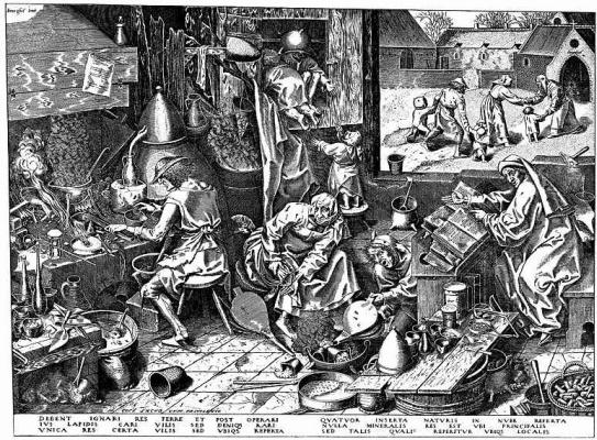 Pieter Bruegel The Elder. The alchemist