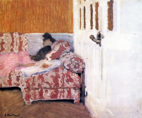 Jean Edouard Vuillard. White room. On the sofa