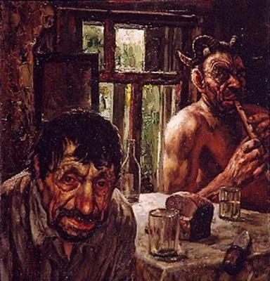 Vasily Vladimirovich Shulzhenko. Leshiy is visiting a peasant
