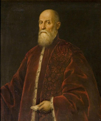 Jacopo (Robusti) Tintoretto. Portrait of the procurator of sv. Mark, Venice