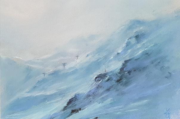 Elena Genkin. On the ski slope