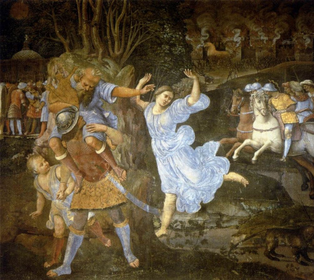 Джилорамо Дженга. Побег Энея из Трои