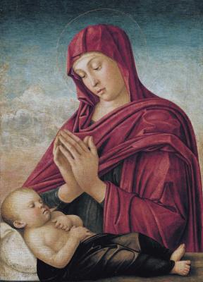 Джованни Беллини. Мадонна со спящим младенцем