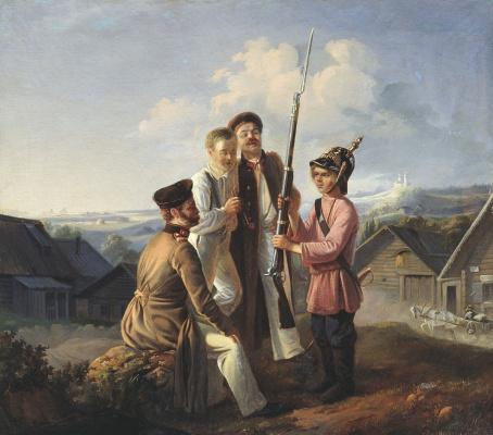 Bogdan Pavlovich Willewalde. Future warrior. 1855