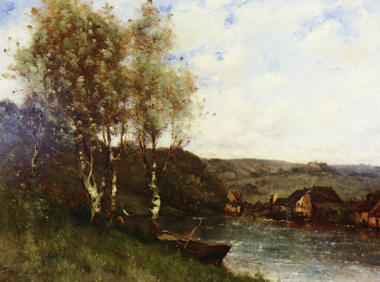 Рыбак на реке