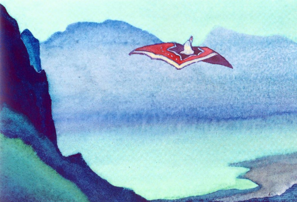Nicholas Roerich. Chinese tale. Sketch