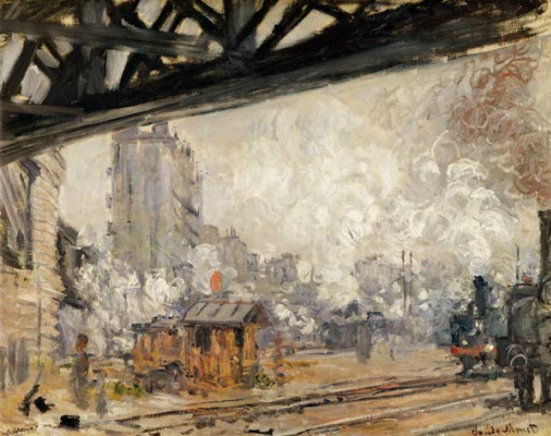 Клод Моне. Вокзал Сен-Лазар, вид снаружи