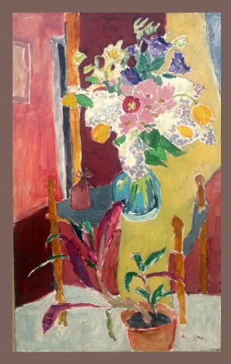 """Олег Белоусов. """"Still life with yellow tuilps"""""""
