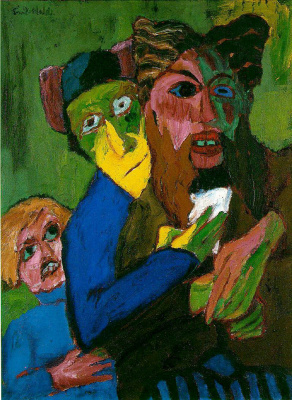 Emil Nolde. Excited people