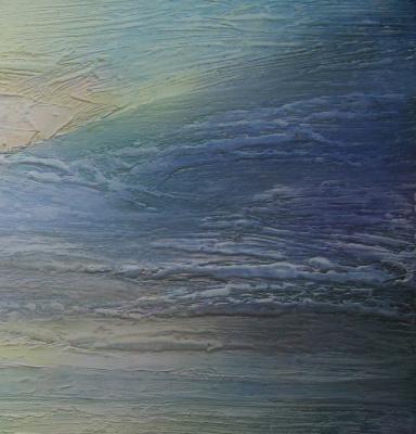 Alexander Ivanovich Vlasyuk. Crimea. Dawn over the blue lagoon