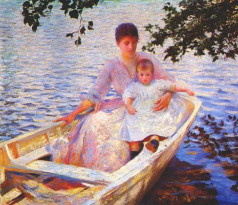 Эдмунд Чарльз Тарбелл. Мать и дитя в лодке