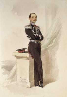 Mikhail Alexandrovich Zichy. Portrait of Prince Peter Romanovich Bagration. State Hermitage, St. Petersburg. squadron.