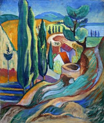 Anatoly Galaktionovich Petritsky. Landscape. Sukhumi