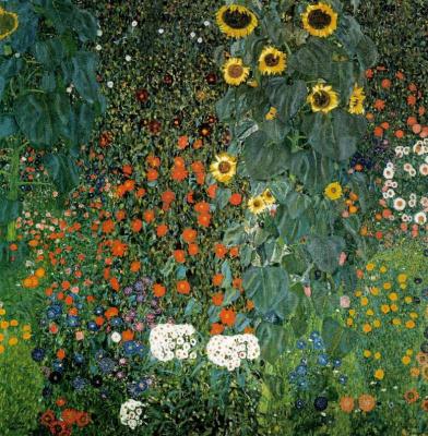 Густав Климт. Крестьянский сад с подсолнухами