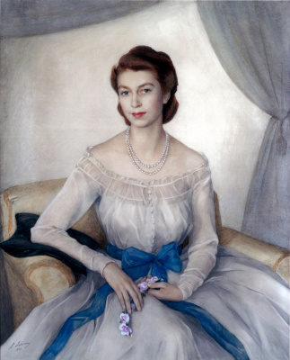 Saveliy Abramovich Sorin. Portrait of Princess Elizabeth. (Now the Queen of Great Britain).