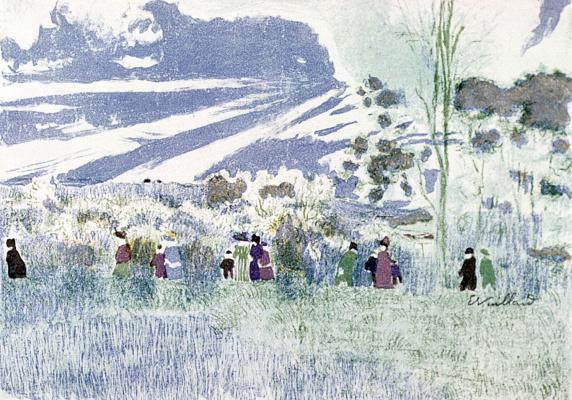 Жан Эдуар Вюйар. Прогулка в поле