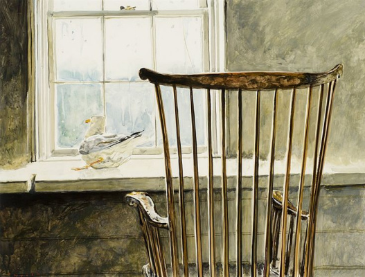 Jamie Wyeth. The Seagull and the chair Winsor