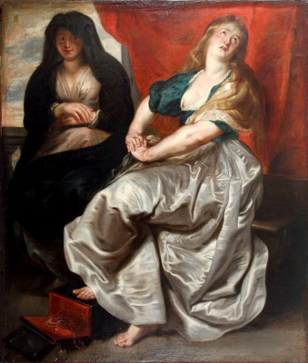 Peter Paul Rubens. Penitent Mary Magdalene with her sister Martha