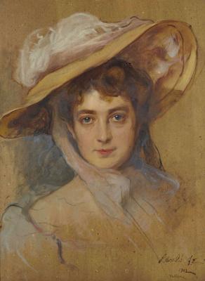 Филип Де Аликсис Ласло. Ла Дюшес де Клермон-Тоннере, урожд. Элизабет де Грамон. 1902