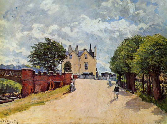 Alfred Sisley. Hotel in East Mols bridge-HAMPTON Court